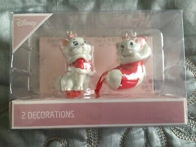 2019 New Primark Marie From Disney The Aristocats Christmas 2 Pack Decorations
