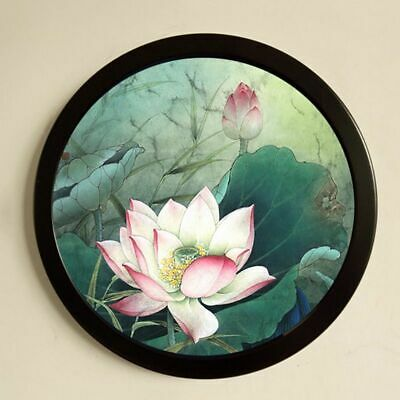 Hanging Picture Frame Round Wooden Picture Holder Wall Mounted Photo Home Decor