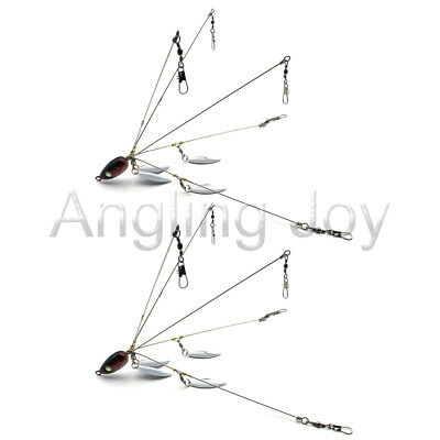 2 5 Arms 4 Blades Umbrella Alabama  Rig for Bass Crappie Lure Fishing Bait HLS