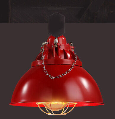 D360 1*Light Iron Diameter 32CM Industry Style Red Decoration Pendant Light Z
