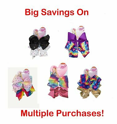 Jo Jo Siwa JoJo Bow X Large 2 Pack Set Girls Hair Clips Style Fashion Bows