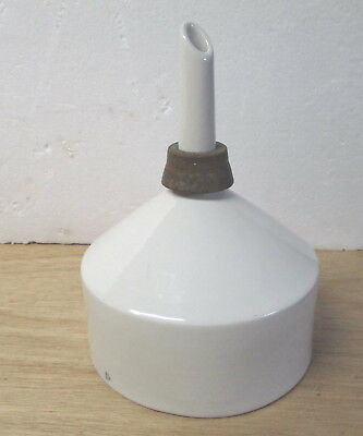 Vintage Coors USA No. 4A white porcelain 6.5 inch diam. funnel sieve