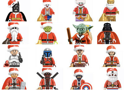 LEGO Santas ~ Marvel, DC, Star Wars, +++ ~ Custom Christmas/Holiday minifigures