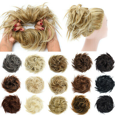Real Thick Big Messy Bun Scrunchie Updo Wrap on Hair Extension Easy Cute Hair UK