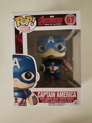 Funko Pop Age Of Ultron Marvel Captain America #67 Disney Steve Rogers
