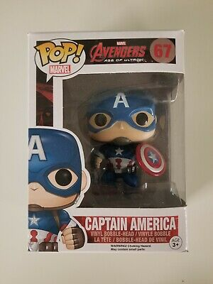 Funko Pop Age Of Ultron Marvel Captain America #67 Disney Steve Rogers #2