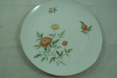 "Vintage Norleans Flanders China Round Serving Plate 12"" Flowers Japan Floral"