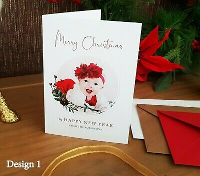 Christmas Cards Pack Personalised + Envelopes • Photo Cards • Own Artwork • SALE