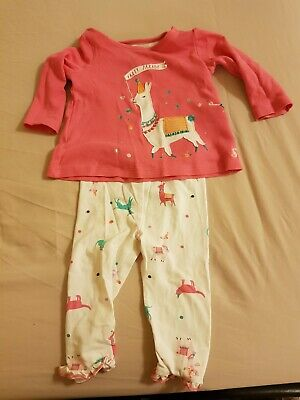 Joules Girls Outfit 6-9 Months Top Leggings