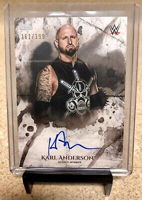 2018 Topps Wwe Undisputed Karl Anderson Auto Autograph 161/199 Bullet Club Njpw