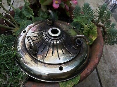 Old Brass Chandelier Hook Plate Vintage For Restoration