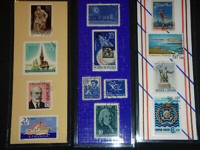 3 BOOKMARKS~ROMANIA Laminated POSTAGE STAMPS! AWESOME! SUPER!