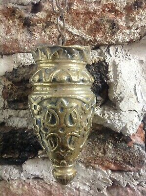Vintage French Curtain / Cistern Brass Pull Handle Decorators Delight Very Rare