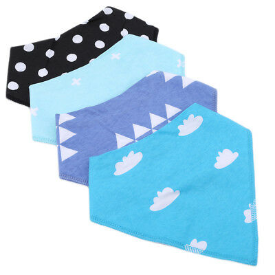 New style baby pure cotton double-layer saliva Korean super soft triangle towel