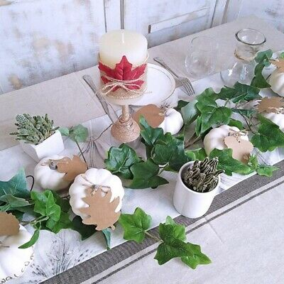 12 PCS Assorted Sizes Rustic Harvest White Artificial Pumpkins For X2Y4