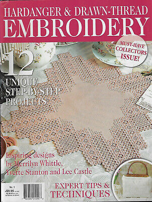 Hardanger & Drawn Thread Embroidery No 1 magazine doily tray cloth blouse bag