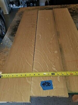 White Oak Quarter Sawn boards lumber 1//2 or 3//4  surface 4 sides 12/""
