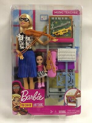 Barbie Music Teacher Doll Playset, You Can Be Anything, Mailed In Bubble Mailer