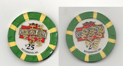 Southern Belle Casino Riverbend Mississippi NCV $25 Tournament Poker Gaming Chip