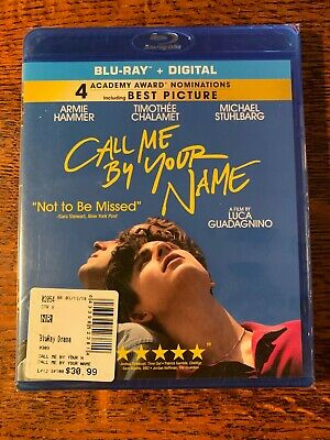 Call Me By Your Name (2017) Armie Hammer Timothee Chalamet Blu Ray New