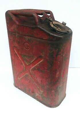 Gas Fuel Jerry Can Red Military ICC-5L Russakov 20-5-51 OMC USA Vintage