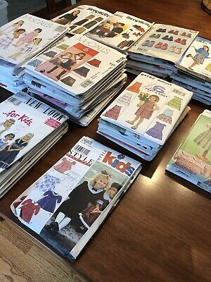 Huge Lot of 82 Sewing Patterns, McCalls, Simplicity, Butterick, Many Uncut