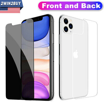 Fr iPhone 11 Pro XS MAX XR Anti-Spy Privacy Tempered Glass Screen Protector Film