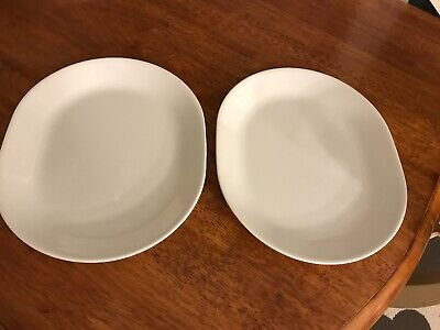 New 2 Corelle WINTER Frost White SERVING PLATTER Plates Oval 12x10 Corning