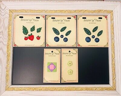 """""""Stitchin' Up the Pieces"""" By JHB Novelty Button Cards  NOS"""