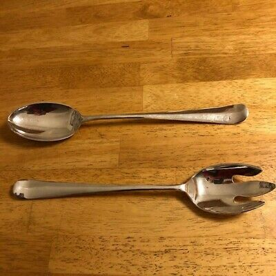"""13"""" Gerity  Georgian Silver Plate Serving and Salad Set"""