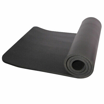 "10mm Thick Non-Slip Yoga Mat Pad Exercise Fitness Light Weight Pad 72""x24"" Black"