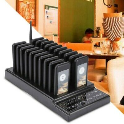 Wireless Restaurant Guest Calling Paging Queuing System 1*Transmitter+20*Pagers