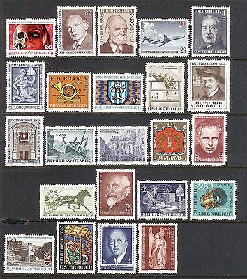 Austria complete year 1973 commemorative stamps MNH s306