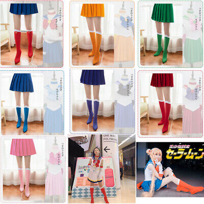 Sailor Moon Tsukino Usagi Knee High Boots Cover Shoes Case Cosplay Costume New