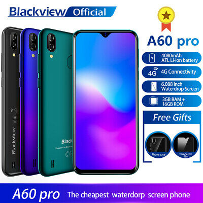 Blackview A60 Pro 3G+16GB Quad-Core Android 8.1 4080mAh 6.1 inch Smart Phone