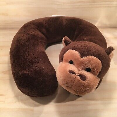 "PLAYETTE ""Brown"" Cute Novelty Monkey Baby's Neck Support Cushion Pillow"