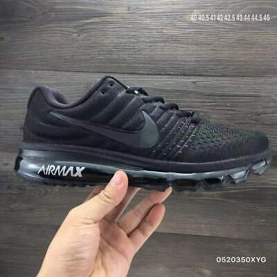Free Shipping New Nike Air Max 2017 Men' Running Shoes On Sale! Black