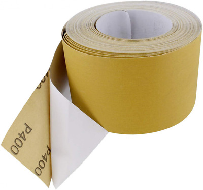 "ABN Adhesive Sticky Back 80-Grit Sandpaper Roll 2-3//4"" Inch x 20 Yards Alumin..."
