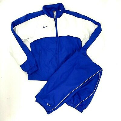 Nike Womens Vintage Track Suit Jacket & Pants Blue White Size Small