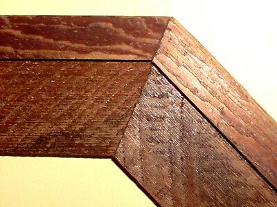 VINTAGE WOODEN FRAME RUSTIC HEXAGONAL HANDMADE with Double Mat, Painting Mirror