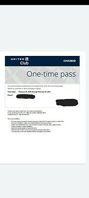 United Airlines UA Club Pass -Quick Email Delivery-Expires 12/21/2019 or later