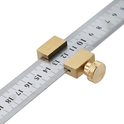 Woodworking Tools With Steel Ruler Fixed High Efficiency Brass Positioning Block