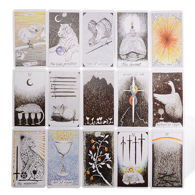 78pcs The Wild Unknown Tarot Deck Table Party Games Card Fortune Telling Gift