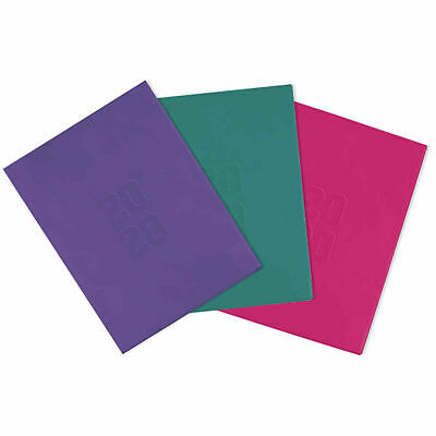 Diary 2020 Cumberland A5 Planner Month to View Teal, Pink and Purple Free Post