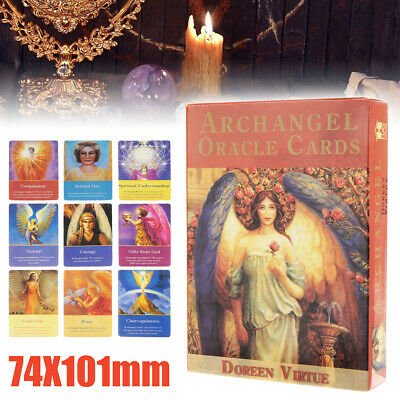 45 Card Magic Archangel Oracle Cards Earth Magic Fate Tarot Deck Guidebook Gift