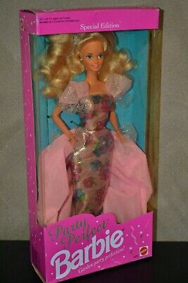 Brand New Barbie Doll 1992 Party Perfect Barbie Doll Special Edition