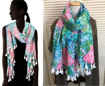 "NEW $78 Lilly Pulitzer Lilly Pulitzer Resort Scarf ""Bohemian Queen"" Wrap Coverup"
