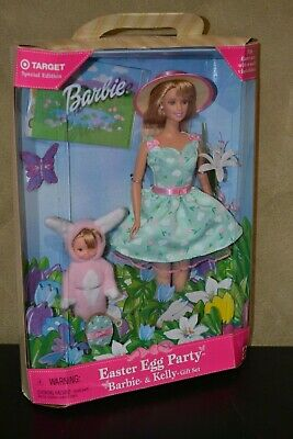 Brand New Barbie Doll 1999 Easter Egg Party Barbie And Kelly Doll Giftset