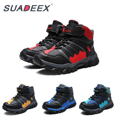 Kids Winter Snow Boots Boys Outdoor Hiking Shoes Climbing Walking Trail Sneakers