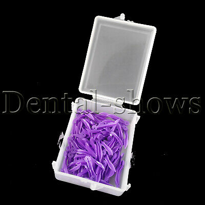 400 pcs Dental disposable Plastic Poly-Wedges with Holes Round Stern Large size